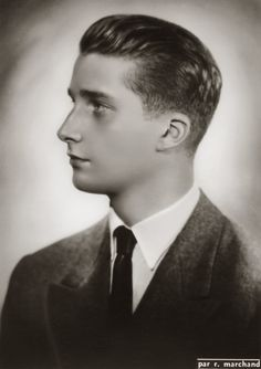Z.K.H. Albert, Prins van België. 1950, bromide foto formaat 12 x 16 cm. Foto van Robert Marchand uit de verzameling van Wilfried Vandevelde.