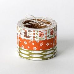 E2 Fabric Tape set 33 My Buddy (Set of 3) - Adhesive Decoration Fabric Roll Tape Masking Tape