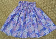 A girl's hula pa'u skirt of lavender & orchid by SewMeHawaii, $25.00