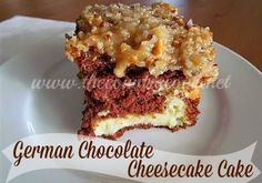 The Country Cook: German Chocolate Cheesecake Cake