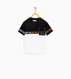 Discover the new ZARA collection online. Sport T-shirts, T Shirt Sport, Skate T Shirts, Boys Shirts, Hang Ten, Polo Outfit, Zara Boys, Kids Fashion Boy, Casual T Shirts