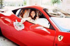 Un #Mariage en Ferrari, un rêve accompli pour cette mariée !