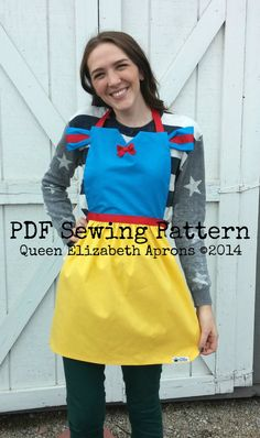 Adult SNOW WHITE Pdf Sewing PATTERN. by QueenElizabethAprons