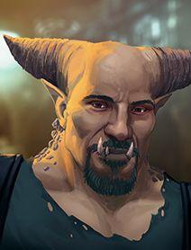 Troll Male Shadowrunners Portraits from Shadowrun Returns and Shadowrun Dragonfall.