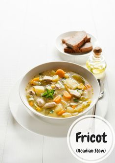 Fricot aka Acadian Stew – The Ketchup War Summer Savory, Canadian Food, Food Club, Spices And Herbs, Vegan Butter, Bread Rolls, Slow Cooker Chicken, Ketchup, Cheeseburger Chowder