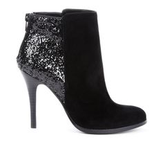 suede and glitter booties Hot Shoes, Crazy Shoes, Me Too Shoes, Look Fashion, Fashion Shoes, Womens Fashion, Diy Fashion, Bootie Boots, Shoe Boots