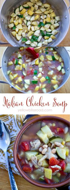 Italian Chicken Soup Recipe | Healthy Eating | Paleo
