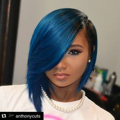 """#Repost from @anthonycuts  Custom coloredCAP BOB for my little sis with Bobbi Boss Visso hair from @beauty_depot! www.shopbeautydepot.com #capbob…"""