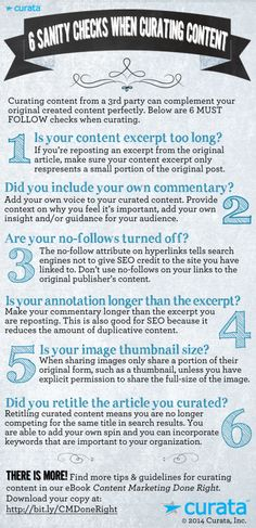 Infographic: 6 Sanity Checks When Curating Content