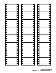Free film strip templates for your photo collages and movie posters. Print these blank film strip templates. Learn how to add your photos in Photoshop.