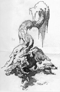 A Burning Designer: Frank Frazetta (Part More sketches Frank Frazetta, Art And Illustration, Comic Illustrations, Character Illustration, Comic Books Art, Comic Art, John Carter Of Mars, Fantasy Kunst, Science Fiction Art