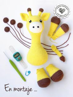 Jirafa Crochet {Stanley the Giraffe} Pattern by Little Muggles - Link in comments  #crochet #pattern #mariamartinezamigurumi