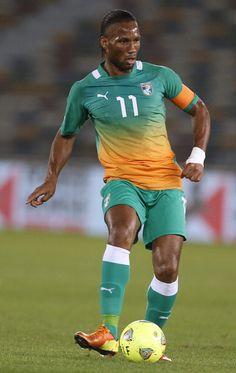 Didier Drogba, durante un partido con Costa de Marfil. /Getty    http://www.zoomnews.es/deportes/futbol/copa-africa-naciones-retorno-del-exodo