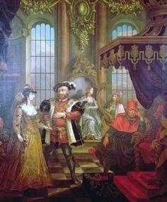 Henry VIII and Anne Boleyn at court