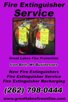 Fire Extinguisher Service Iron Belt City), WI (262) 798-0444 Check out Great Lakes Fire Protection.. The Complete Source for Fire Protection in Wisconsin. Call us Today!