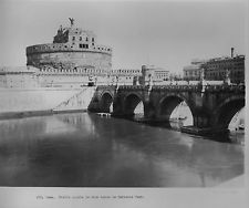 1929 Rome.  The Castle Angelo, or Hadrians Tomb