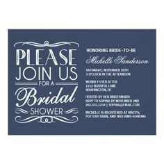 Vintage Bridal Shower 5x7 Paper Invitation Card