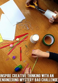 Engineering mystery bag challenges for kids