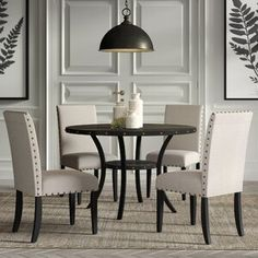 Beautiful Amy 5 Piece Dining Set Kitchen Dinings Room Furniture from top store Kitchen Dining Sets, Counter Height Dining Sets, Dining Room Sets, Dining Room Table, Round Kitchen, Kitchen Tables, Kitchen Ideas, Dinning Set, Small Dining