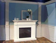 Wondrous Diy Ideas: Wainscoting Board And Batten Tutorials wainscoting beadboard frames.Wainscoting Ideas Two Tone. Wainscoting Kits, Picture Frame Wainscoting, Wainscoting Height, Dining Room Wainscoting, Wainscoting Nursery, Raised Panel, Bar, House Styles, Fireplace Refacing