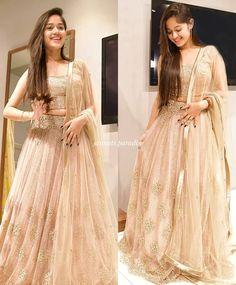 Jannat Zubair Ethnic Wardrobe Is Proof Shows Love for Lehengas; Choli Designs, Lehenga Designs, Indian Bridal Outfits, Indian Bridal Fashion, Indian Designer Outfits, Designer Dresses, Stylish Dresses, Fashion Dresses, Long Dresses