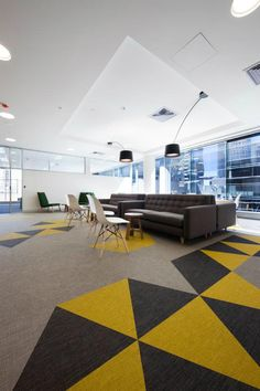 Custom floor design at Energy Safe Victoria's New Offices
