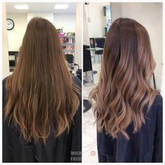 En riktigt fin balayageslingning i beiga toner Vi använder smartbond i behandlingen för att stärka håret och ge mer lyster åt färgen ✨ #beigeblond #longhair #lorealproffessionel
