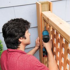 Photo: Kolin Smith | thisoldhouse.com | from How to Build a Wood Lattice Fence