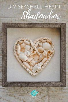 35 Cool DIY Seashell Crafts and Projects 35 Coole DIY Muschel basteln und Projekte Seashell Shadow Boxes, Diy Shadow Box, Diy Décoration, Easy Diy Crafts, Cadre Diy, Seashell Projects, Seashell Crafts Kids, Sea Crafts, Crafts With Seashells
