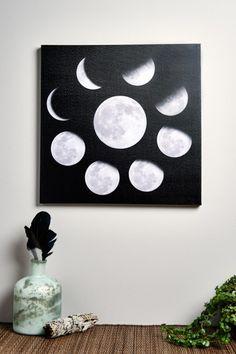 Moon Phases Canvas Art https://noahxnw.tumblr.com/post/160711524941/hairstyle-ideas