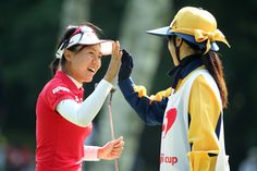 Pei-Ying Tsai Photos Photos - Pei-Ying Tsai of Taiwan celebrates after making her birdie putt on the 18th hole during the final round of the meiji Cup 2016 at the Sapporo Kokusai Country Club on August 7, 2016 in Narusawa, Japan. - meiji Cup 2016 - Day 3