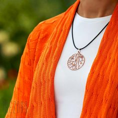 AU$69. Prunus Sinensis  Pendant. Sterling silver, rose gold plated. Worldwide shipping. Romantic Flowers, Prunus, Tree Bark, Leather Cord, Rose Gold Plates, Washer Necklace, Sterling Silver, Pendant, Garden