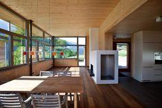 pedit & partner architekten Partner, Interior, Outdoor Decor, Home Decor, Wood Facade, Architects, Detached House, Living Area, Homes