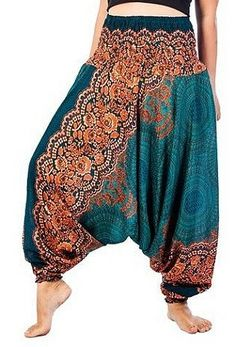 Teal Mandala Rose Jumpsuit – Asha Pants