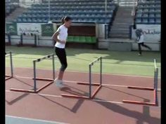 hurdles pre-season drills - YouTube Running Training Plan, Running Drills, Running Race, Track Drill, Strength And Conditioning Workouts, Indoor Track, Long Jump, Cross Country Running, Learning