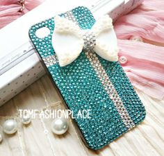Fashion blue bow iphone 5 case iphone 4 case iphone 4s by hicase