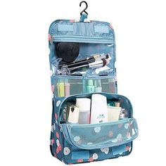 a59b74b936f2 Women Cosmetic Portable Waterproof Bag Makeup Travel Pouch Hanging Organize