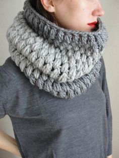İnfinity Crochet Women Scarf Men ScarfCowl by Stylishknitting
