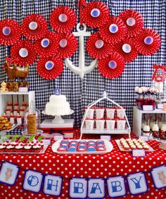 Baby Shower Ideas & Decoration - Baby Shower Theme Sailor