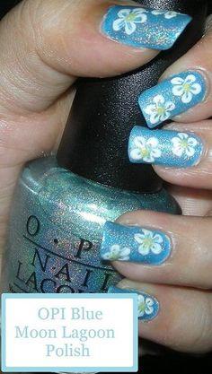 Flower Print Nail Design