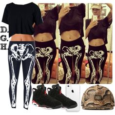 Skeleton Chill., created by dopegenhope on Polyvore