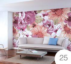 Vinilos Decorativos Tipo Papel Tapiz / Diseños De Florales - Bs. 8.987,15 en MercadoLibre
