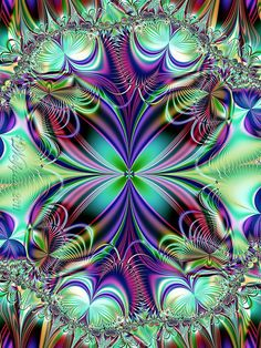 peacock colors fractal art