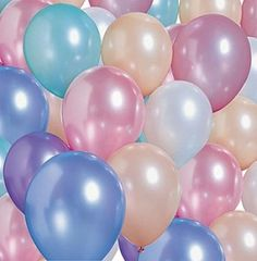balloons pastel colors