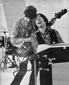 Davy Jones on the guitar jams with Peter Tork on keyboard
