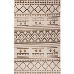 Jaipur 'Vanden Bohemian' Wool Rug (14.810 RUB) ❤ liked on Polyvore featuring home, rugs, hand knotted wool area rugs, jaipur rugs, boho area rugs, boho rugs and geometric pattern rugs