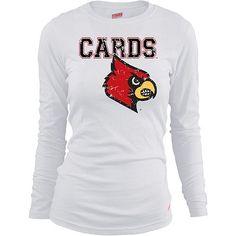 Soffe Louisville Cardinals Women's Long Sleeve T-Shirt Extra Large $22.00