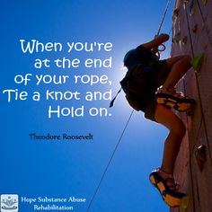 The road to #recovery is tough but as you continue to give your commitment, #sobriety is becoming reachable. Don't give up, tie a knot and hold on. #inspirational #quotes Like us on FB https://www.facebook.com/HopeSubstanceAbuseRehabilitation