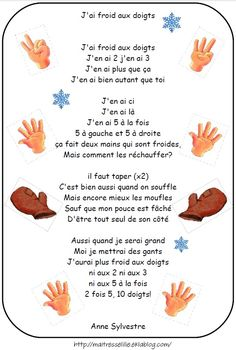 Les comptines : Hiver, froid, banquise, bonhomme d. Learn French Fast, Learn To Speak French, Study French, Core French, Ways Of Learning, Kids Learning, French Poems, French Nursery, English French Dictionary