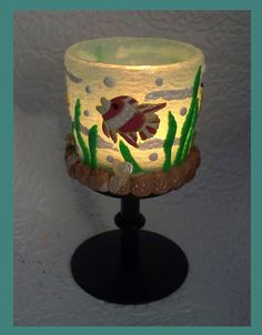 Sealife Tealight Pedestal Candleholder by RFColorfulCreations